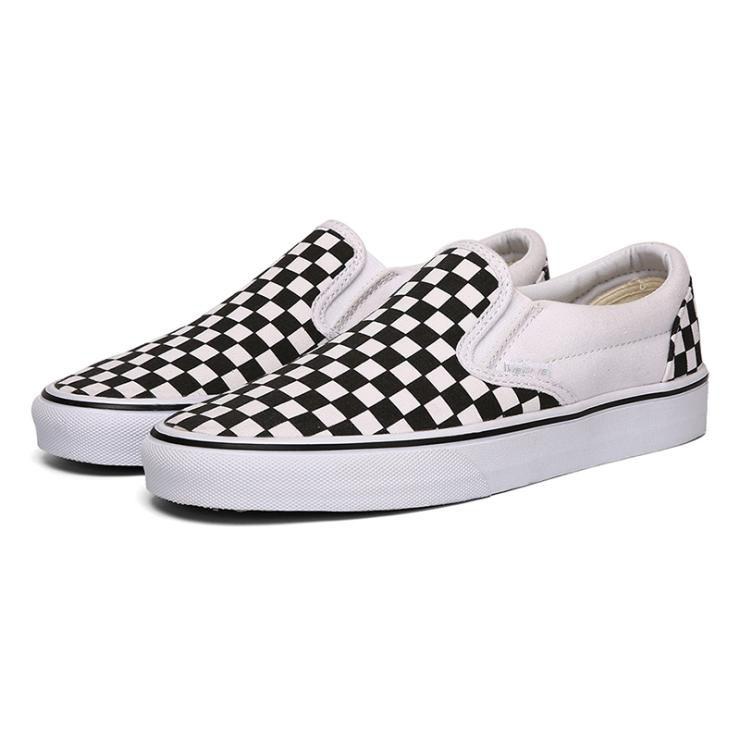 c61711c8d Compre 2019 WomenMen Sapatos De Lona Moda Skate Sapatos Casuais Feminino  Quadriculado Deslizamento Em Cesta Flats Tenis TAMANHO 35 44 De Haoyun7788,  ...