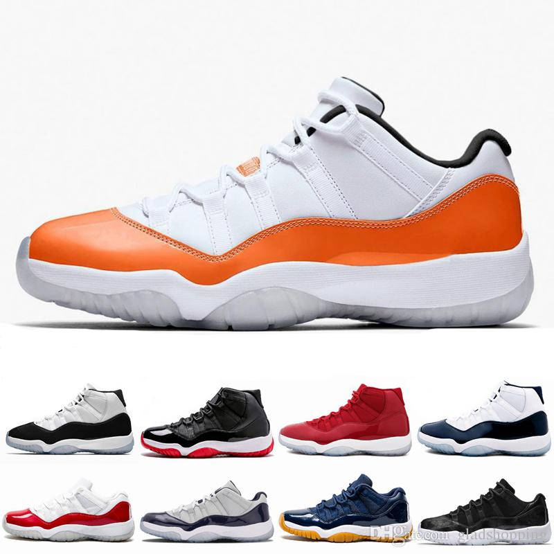 20d1c45da03 11 Low Orange Trance Men Basketball Shoes Sneakers 11s High Concord Bred Space  Jam Platinum Tint Cap And Gown Bakset Ball Sport Shoes Basketball Trainers  ...