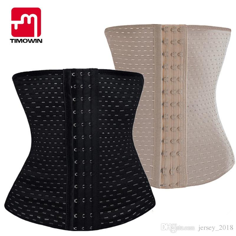 e7284c6f29 2019 TIMOWIN Brand Hot Shapers Waist Trainer Corset Slimming Belt Shaper  Body Shaper Simming Modeling Strap Belt Slimming Corset  211982 From  Jersey 2018