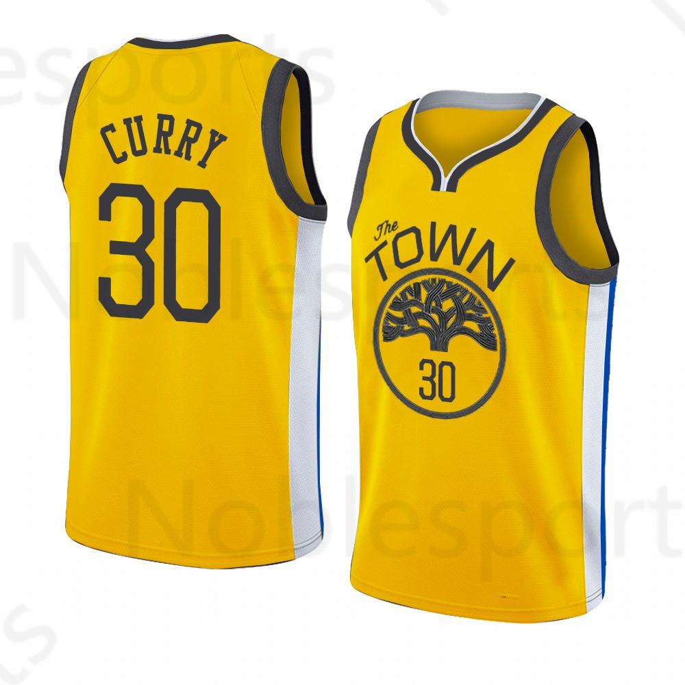 1e40595f65c 2019 Embroidery Stephen 30 Curry Draymond 23 Green Klay 11 Thompson Kevin 35  Durant Blue Golden Mens State Jersey Warriors Andre 9 Lguodala From  Noblesports ...