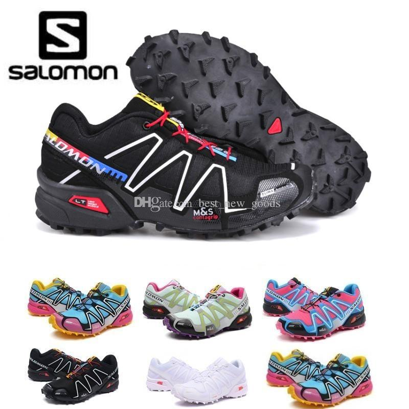 2019 Salomon Speed cross 3 CS III Running shoes Black Silver red Pink blue Women Outdoor SpeedCross 3s Hiking Womens sports sneakers 36 41