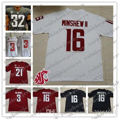2019 Custom Washington State Cougars 16 Gardner Minshew II 3 Tyler Hilinski  21 Max Borghi 4 Luke Falk 23 Gerard Wicks WSU College Football Jersey From  ... e5ff2e049