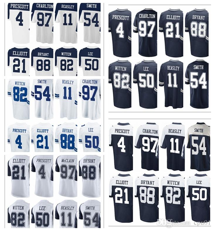 9327975fc ... spain 2019 mens dallas cowboy jersey 4 dak prescott 21 ezekiel elliott  50 sean lee 82
