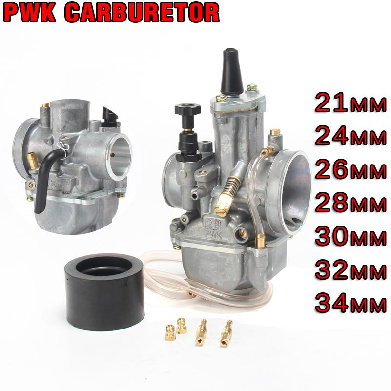 Universal Motorcycle 21 24 26 28 30 32 34mm Carburetor PWK Carburador With Power Jet For Dirt bike Motorcycle Scooter UTV ATV