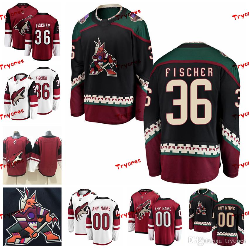 online store 17f0f ab36f 2019 Arizona Coyotes Christian Fischer Stitched Jerseys Customize Vintage  Black Shirts #36 Christian Fischer Hockey Jerseys S-XXXL