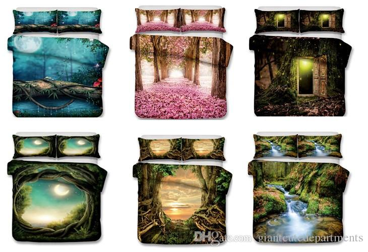 Forest in mystical dreams series Bedding Set no filling Print Duvet Cover Set Lifelike Bed Sheet .twin/full/queen/king.