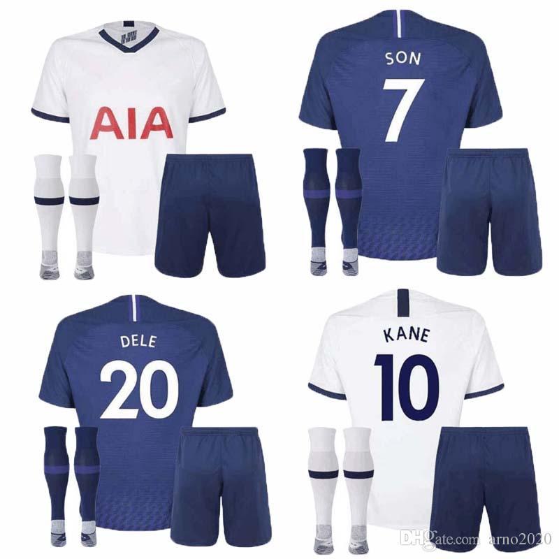 new concept 4c9d7 d89b2 19 20 Spurs kids home soccer Jersey Kits 2019 2020 Tottenham Kane Son  Alderweireld Eriksen Dele HOME AWAY child Football Shirt