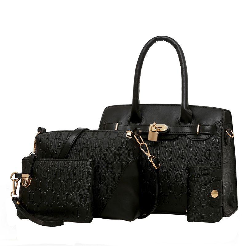 864e2a0313 Bag 2019 New European And American Fashion Platinum Handbag Handbag  Shoulder Messenger Bag Bag Mother Four Sets Of Handbags Hobo Handbags  Italian Leather ...