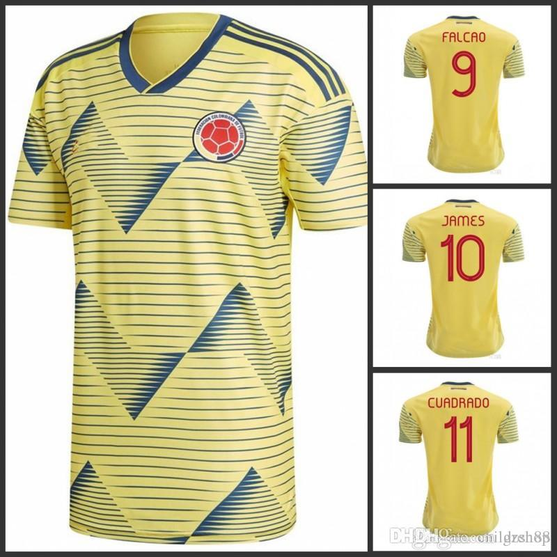 2019 Copa America Colombia soccer Jersey CUADRADO BOCCA BACCA JAMES FALCAO GUARIN football uniforms shirts home yellow soccer tops
