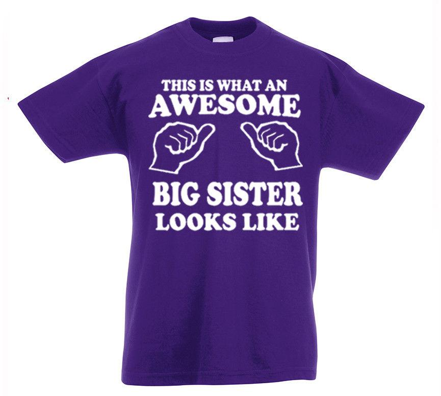 dcfe2fa73e Awesome Big Sister T Shirt 3 13yrs Gift Girls Birthday Funny Present Kids  Tshirt And Shirt Shirts Cool From Designtshirts201806