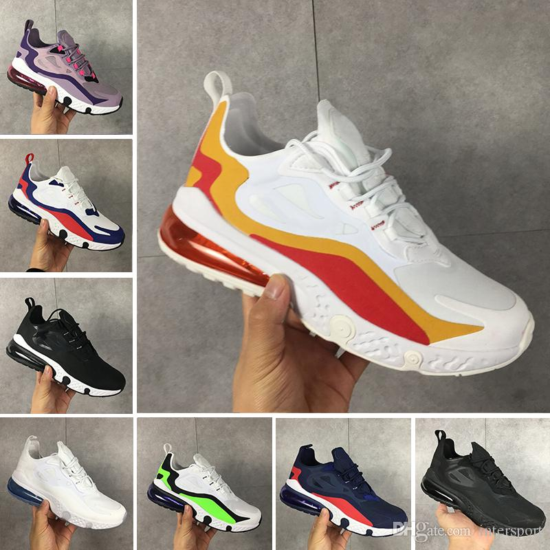 Nike 270 react Zapatos de mujer Parra Hot Punch Photo Azul Hombres Mujeres zapatos casuales Triple Blanco Universidad Oliva Roja Volt Habanero Flair