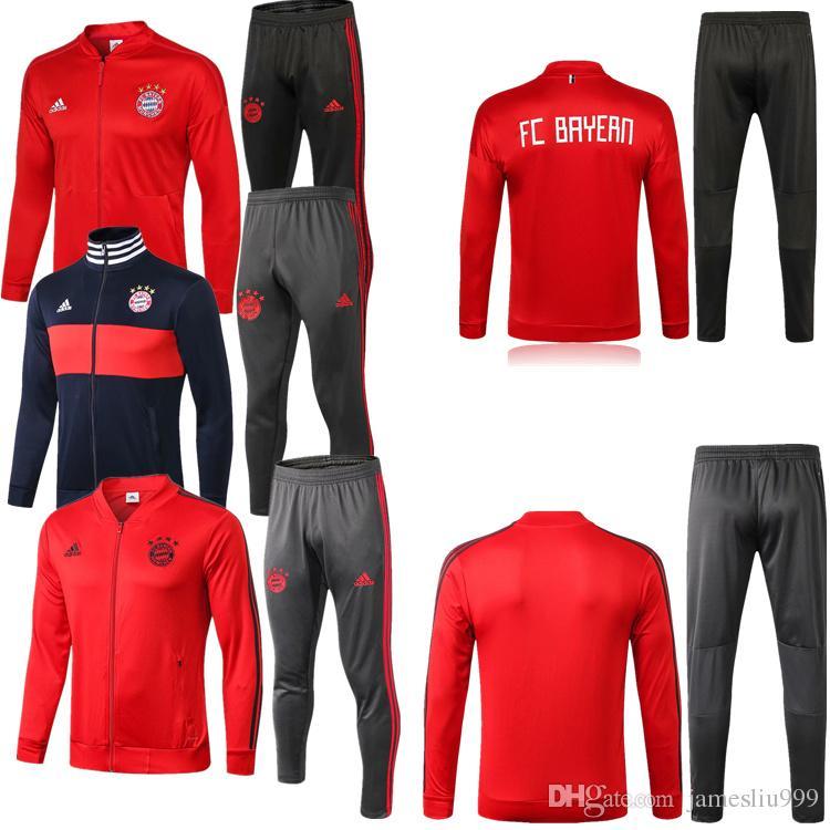 94ec65af5 Compre Jaquetas De Treino Bayern De Munique Sportswear 1819 Maillot De Foot  Fatos De Treino De Homem Fatos De Futebol Bayern De Munique Manga Comprida  + ...