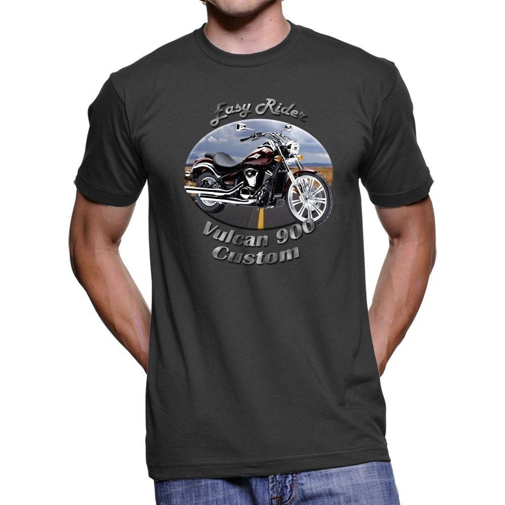 Kawasaki Vulcan 900 Custom Easy Rider Men S Dark T Shirt Cotton Men