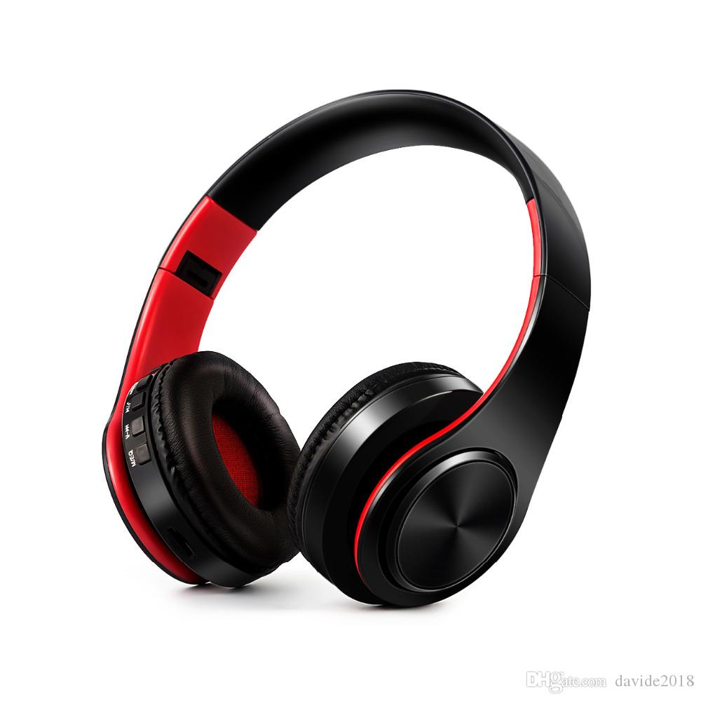 cae3fb7a275 Stereo Earphones Bluetooth Headphone Music Headset FM And Support SD Card  With Mic For Mobile Xiaomi Iphone Sumsamg Tablet Wireless Noise Cancelling  ...