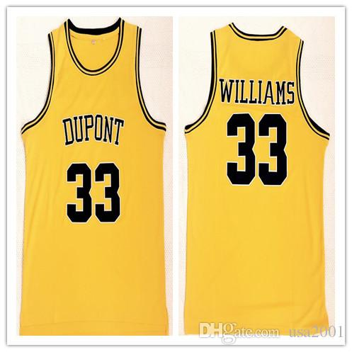 cheap for discount 94e18 fea4d custom made High School Dupont 33 Jason Williams man women youth basketball  jerseys size S-5XL any name number