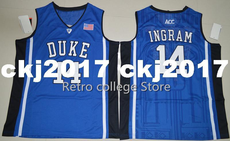 watch f983d 58769 Brandon Ingram 14 Duke Blue Devils Retro College Basketball Jerseys Chino  Hills Huskies High School Shirts For Men XS-6XL vest Jersey ncaa