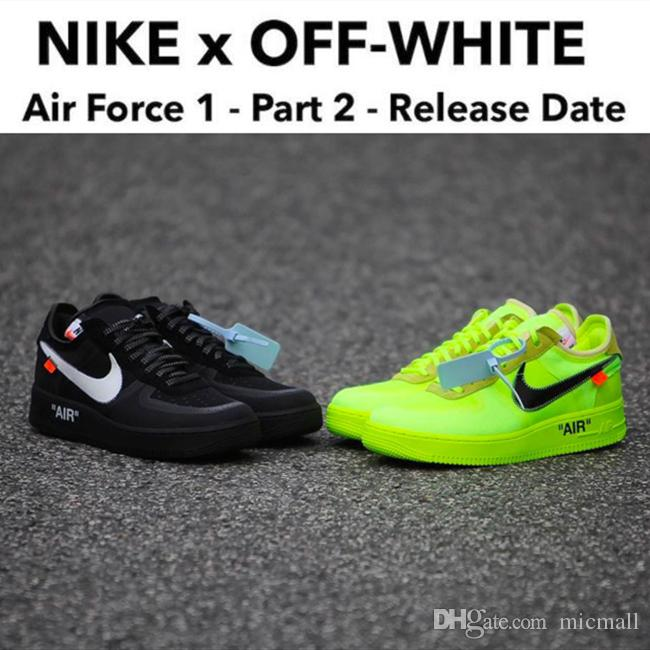 [AVEC BOÎTE] 2019 NEW OFF w BLANC x Nike Air Forcing1 1 LOW Force VIRGIL OW CHAUSSURES HOMME FEMME SPORTS 36 45