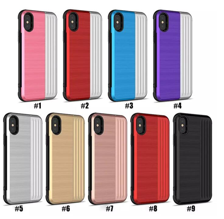 buy popular f14c4 7a929 2 in 1 Cases For iPhone 9 XS Plus iPhone 8 Plus Phone Cases 2 in 1 with  Card Slot for New iPhone Samsung Note 9 Huawei mix 9 colors