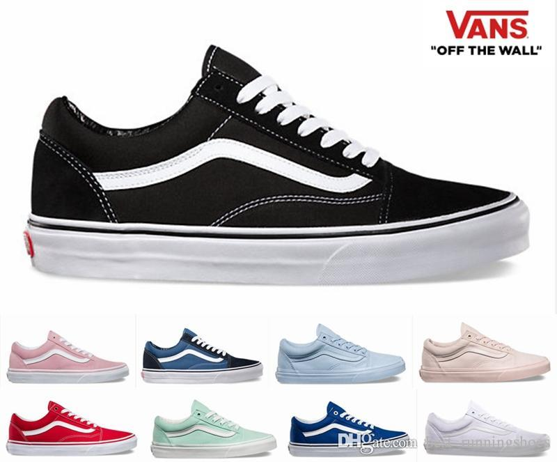c7f67856a48d6 2019 2019 VANS Old Skool SK8 Hi Skateboard Classic White Black Zapatillas  De Deporte Women Men Canvas Casual Skate Shoes Mens Trainers Sneakers From  ...