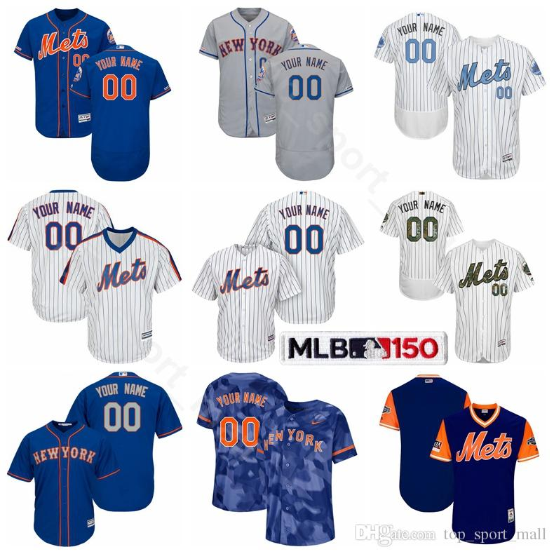 more photos 9e296 851d6 New York Baseball Mets Cool Base 31 Mike Piazza Jersey 5 David Wright 37  Casey Stengel 14 Gil Hodges Tom Seaver Jeff McNeil