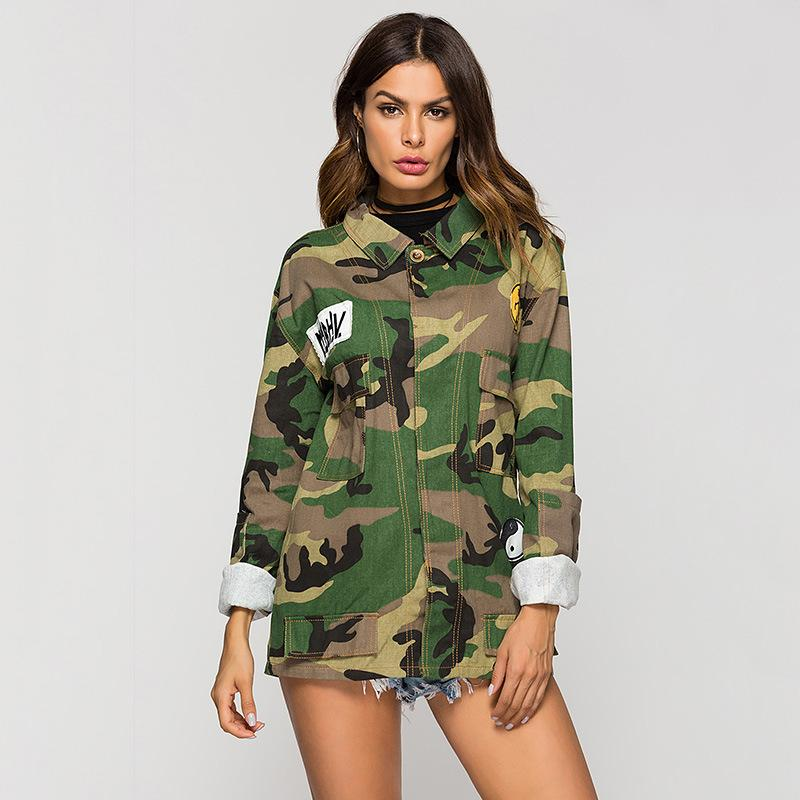 98281751a8 2019 Suit Dress Camouflage Jacket 2019 Autumn New Pattern Patch Girls Long  Fund Loose Coat Heat Summer Tops Blouses For Women Plus Sized Fashion From  ...