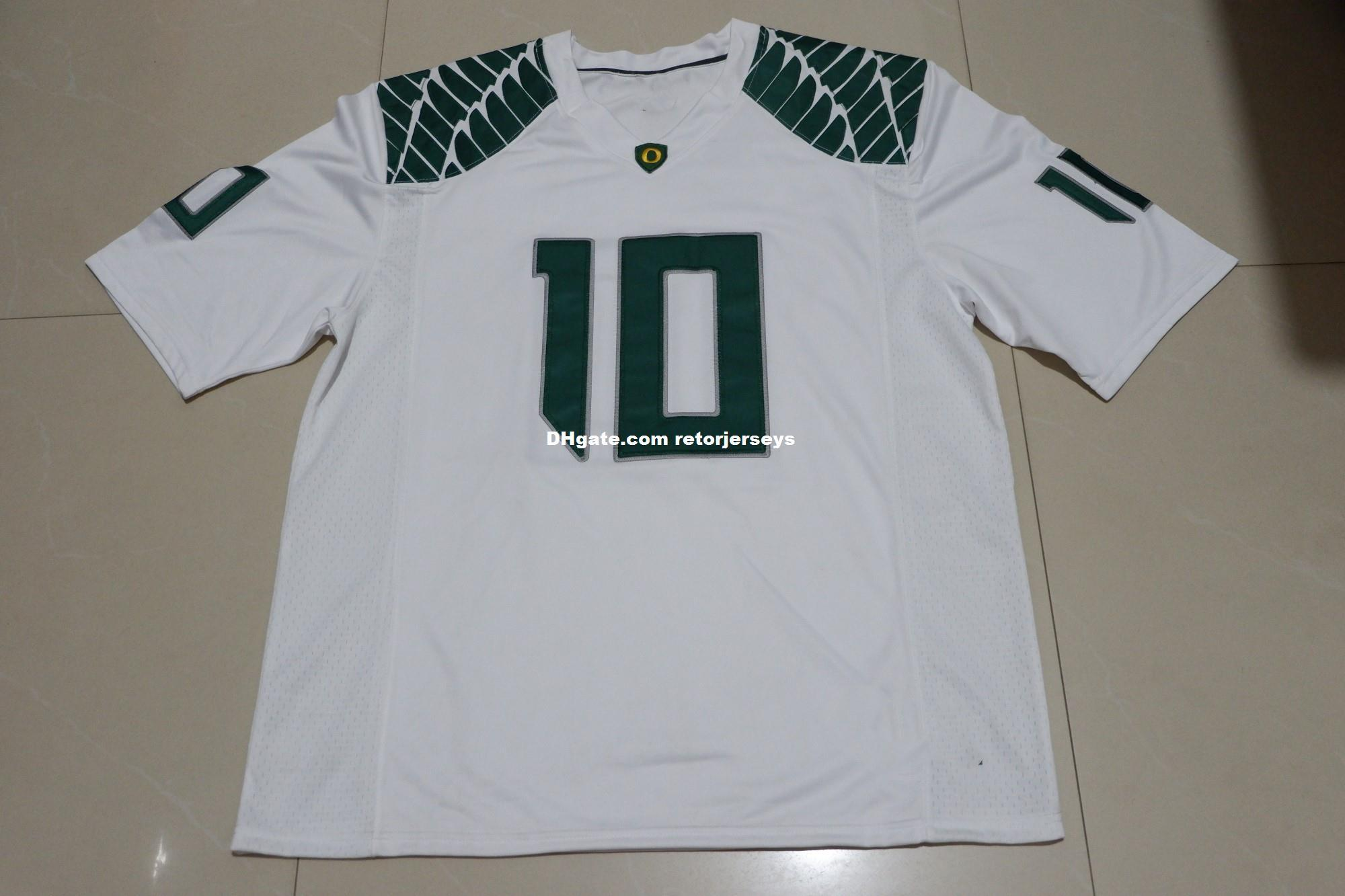 size 40 954e3 b80e5 Men s OREGON DUCKS #10 HERBERT Football Jersey White Customize any name or  number MEN WOMEN YOUTH XS-5XL