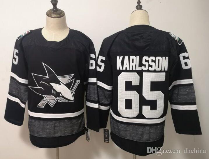 2019 All Star Jerseys Sharks  65 Karlsson  88 Burns Jersey New ... 57dc372f3