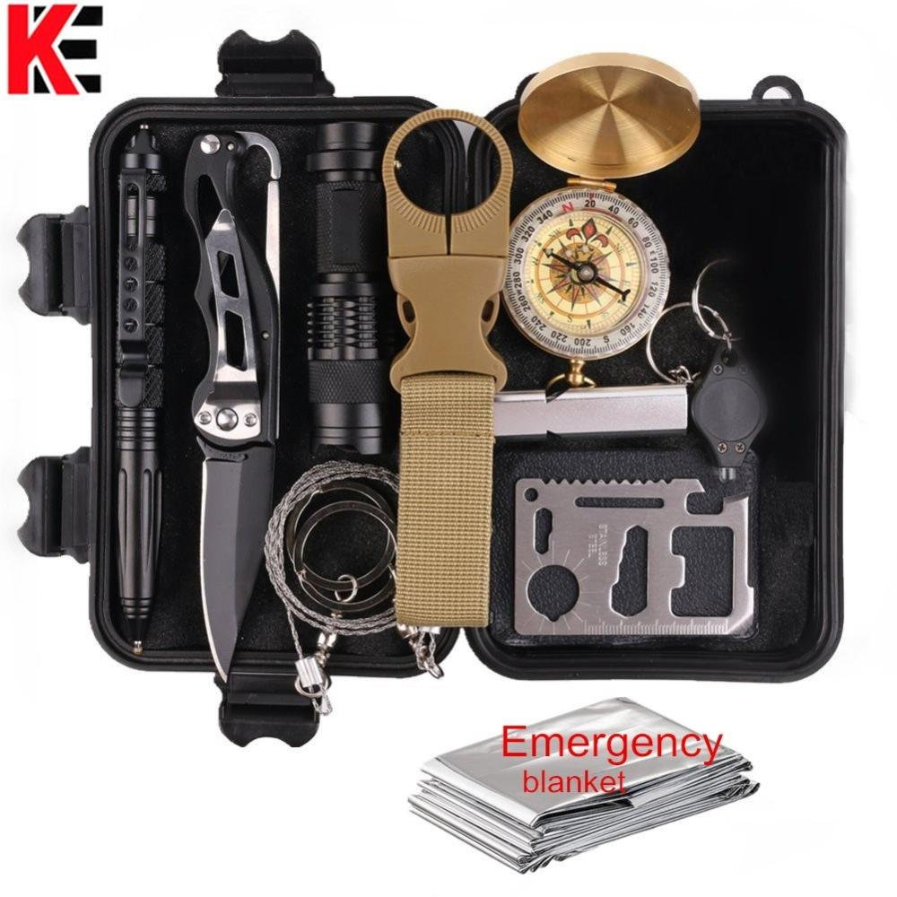 11 In 1 Emergency Survival Gear Multi Tools Kit Set Outdoor Camping Travel Multi-tool First Aid SOS EDC Tactical for Wilderness (6)