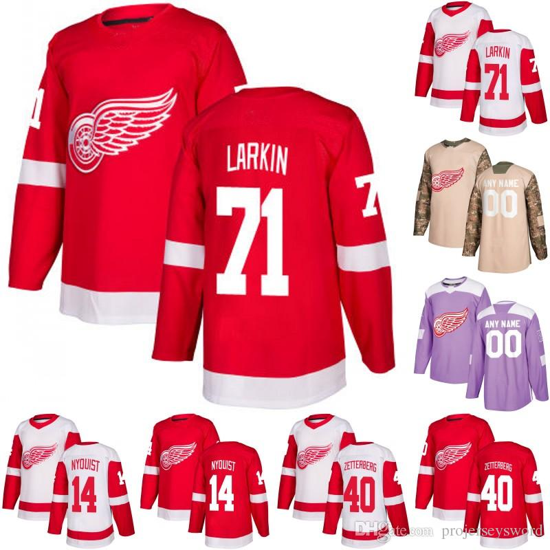 brand new d3039 9db1a Detroit Red Wings Jersey 9 Gordie Howe 74 Madison Bowey 59 Tyler Bertuzzi  61 Jacob De La Rose 72 Andreas Athanasiou Hockey Jerseys S-XXXL