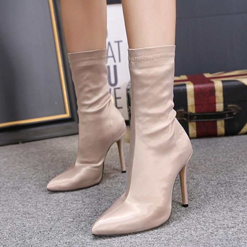 84229dd17223e HEE GRAND Women Boots Stretch Socks Super High Heeled Pumps Ladies ...