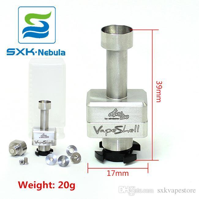 Free Shipping Vape shell SXK New Vapeshell Atomizone s RBA bridge for  Billet box Boro tank compatible Vape Shell