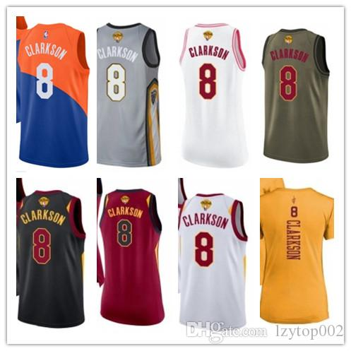 competitive price 32975 1e72e 2019 custom Men/WOMEN/youth Cleveland Cavalier jersey 8 jr Clarkson  basketball jerseys free ship size s-xxl message name number