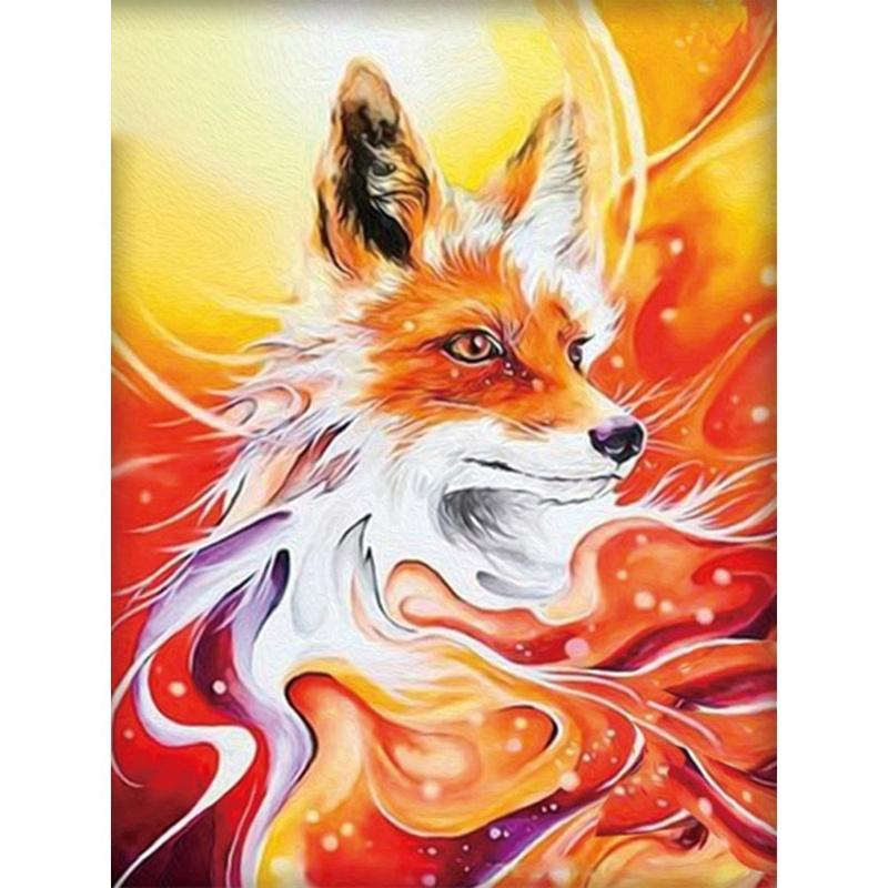 Diamond Painting Full Square/Round Fire Fox Changing Fox Vixen 5D Daimond Painting Picture Embroidery Stich Gem Mosaic Zou036