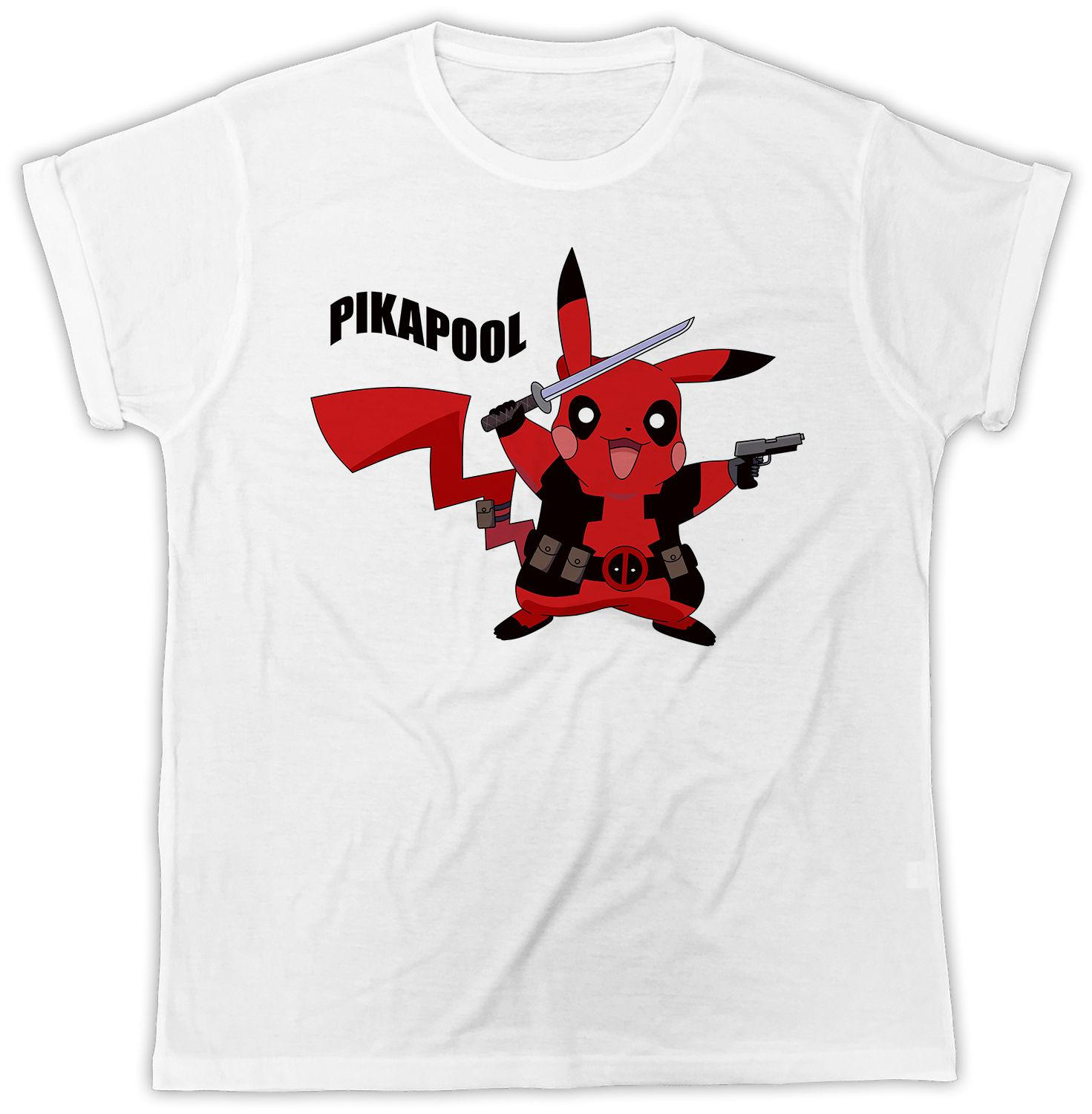 68e42204 FUNNY PIKAPOOL PIKACHU DEADPOOL MOVIE POSTER COOL IDEAL GIFT FASHION TSHIRT  Gift Print T Shirt,Hip Hop Tee Shirt,NEW ARRIVAL Tees Funny Printed T Shirts  ...
