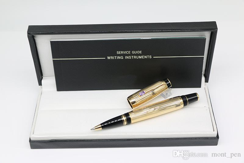 Top quality Gold Bohemies Ag925 Rollerball pen office stationery with Diamond inlay Trim and MB Brands Serial Number