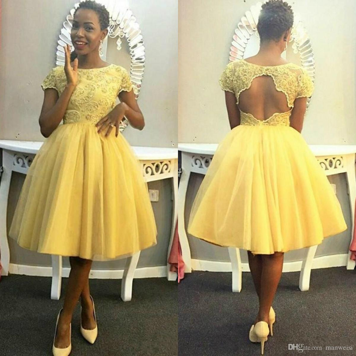 e6f18cc74a5aa Short Prom Dresses Yellow - raveitsafe