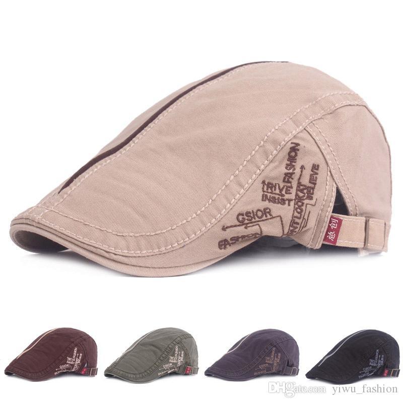 6dc0b5ebde9 Cotton Cap Vintage Beret Men And Women Wholesale Spring And Summer Tourism  Duck Tongue Forward Hat Hat Men s Hat Hats Scarves Gloves Hats Caps Berets  Online ...