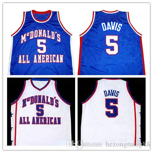 2ab4dd5d 2019 new High Quality #5 BARON DAVIS McDONALD'S ALL AMERICAN Mens  Basketball Jersey Custom any name and number all size