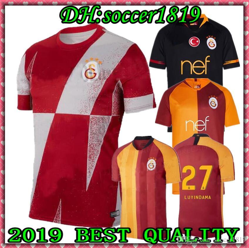 designer fashion 59ce2 6f40e 2019 Galatasaray soccer jerseys LUYINDAMA 19 20 BELHANDA Onyekuru MITROGLOU  BADOU Futbol Camisa Football Camisetas Shirt Kit Maillot