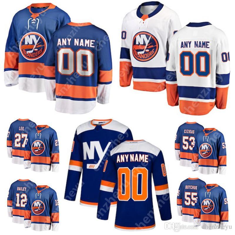 finest selection 84eb5 4d958 New York Islanders Jersey Mathew Barzal Josh Bailey Anders Lee Eberle Nick  Leddy Thomas Hickey Anthony Beauvillier Brock Nelson Ryan Pulock