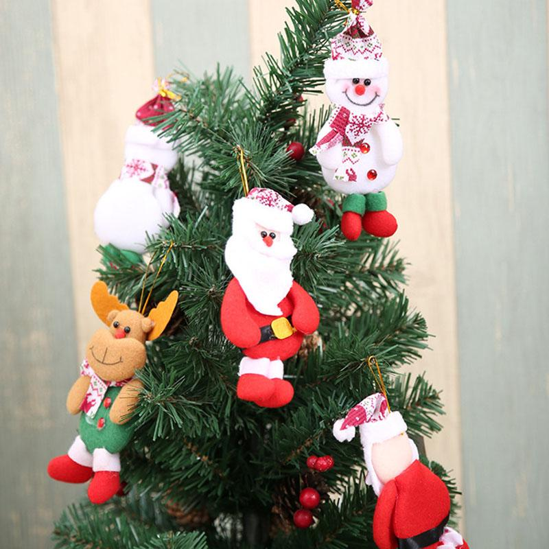 Christmas Tree Decorations Hanging Pendant For Santa Claus Snowman Hanging Ornaments Xmas Home Window Decor Kids Gifts HH9-2500