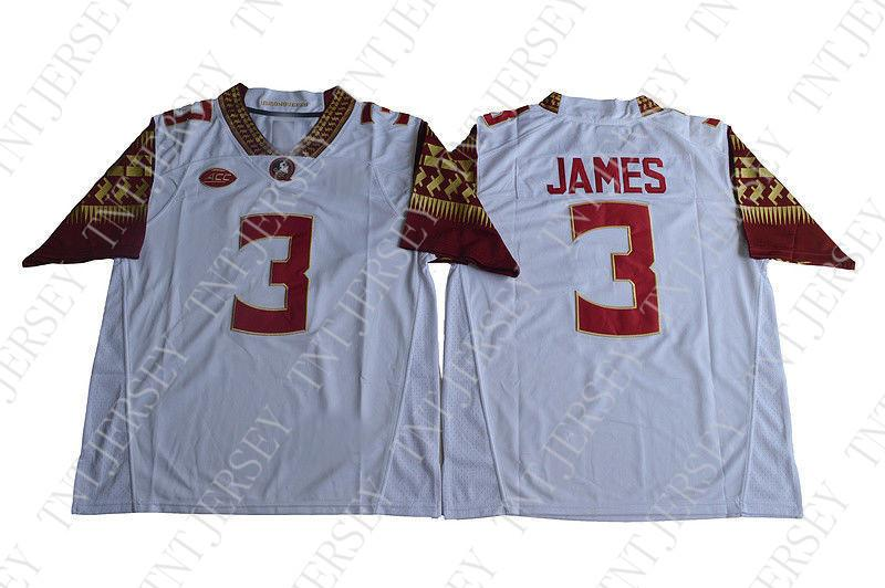 finest selection b2610 b9794 Cheap custom Derwin James Jersey 3 Florida State Seminoles Football Jersey  - White Stitched XS-3XL