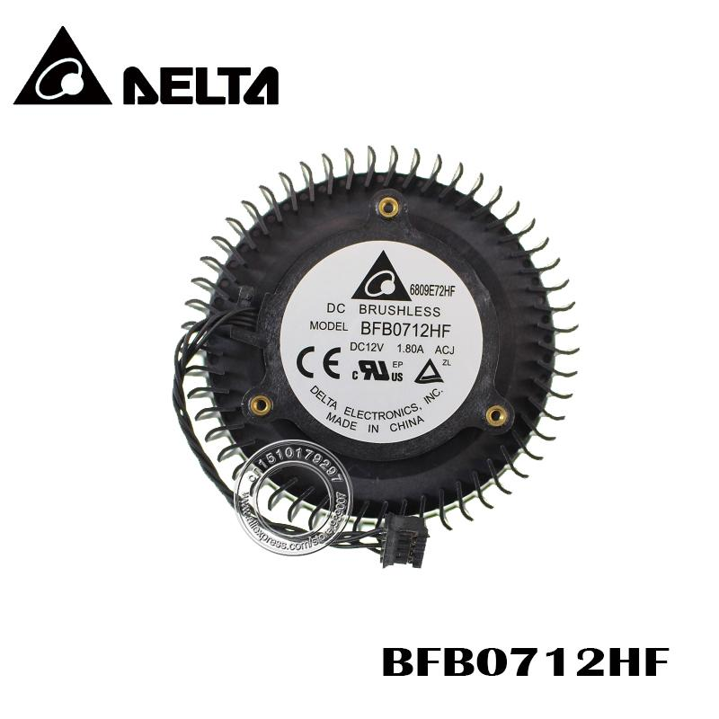 Free Shipping BFB0712HF 65mm 12V 1 8A For NVIDIA GTX Titan GTX980 980Ti  Graphics Card Cooling Fan 4Pin 4Wire Free Shipping BFB0712HF 65mm