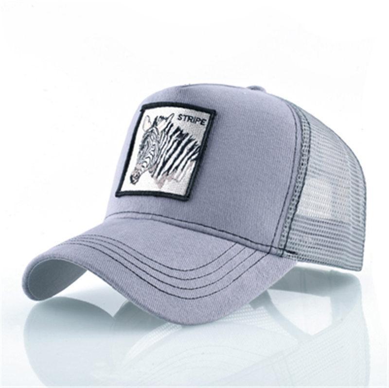 e4a20fae253 Hot Casual Mesh Baseball Hats Embroidered Animals Adjustable Snapback Visor  Caps Men Women Fashion Golf Ball Hat Summer Hihop Dad Cap La Cap Flexfit Cap  ...