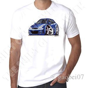 WiNewedArtz Cartoon Car Blue Mk1NewNew RS T-shirt blanc pour homme