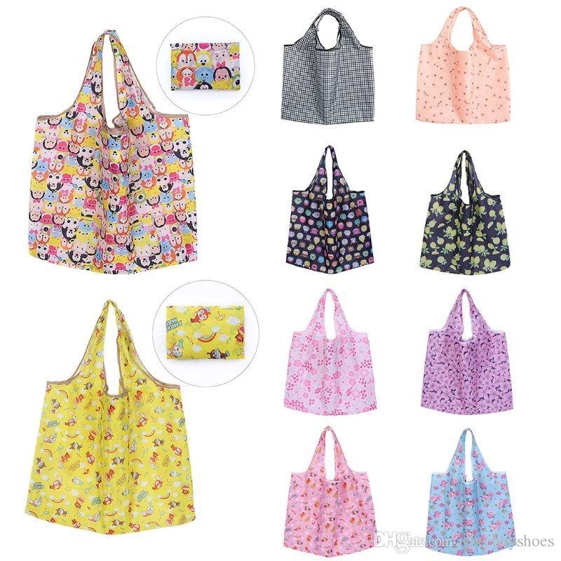 ef200895c Impermeable Plegable Reutilizable Eco Bolsas de la compra de Las Mujeres de  Viaje Bolsa de Hombro Bolsa Totalizador de Moda Gran Capacidad Bolso # 89766