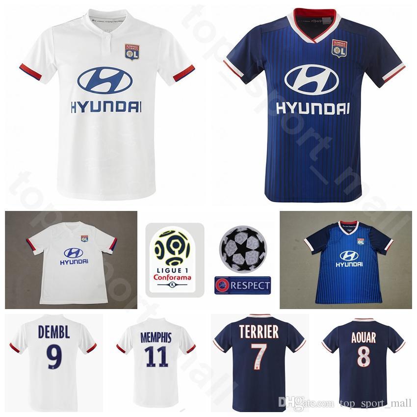 sports shoes 50423 88885 Lyon Jersey Hombres Fútbol 9 Moussa Dembele 11 Memphis Depay 18 Nabil Fekir  TERRIER AOUAR TRAORE CORNET MARCELO Kits de camisetas de fútbol Uniforme