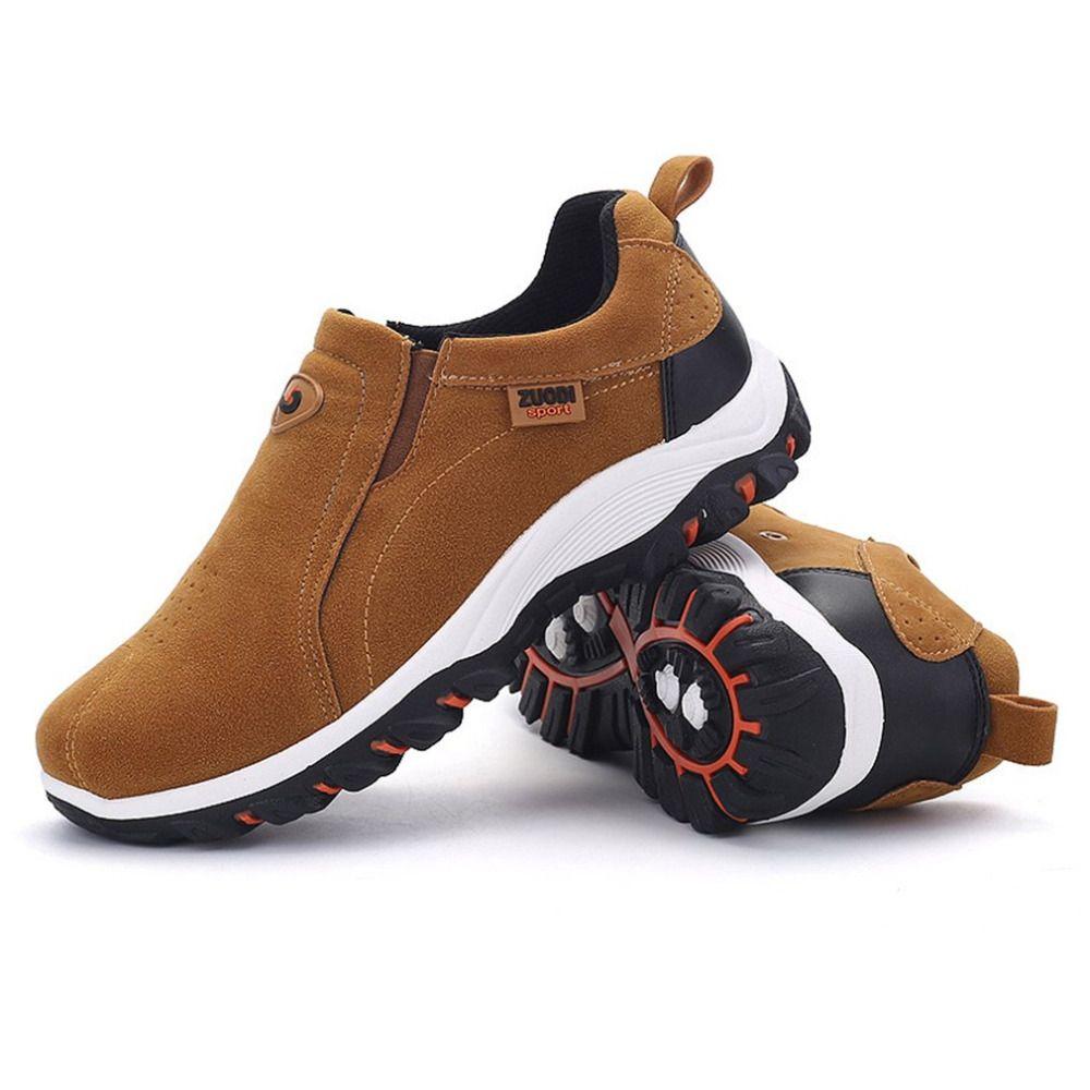 c935541977 Compre Escalada Al Aire Libre Hombre Zapatos De Gamuza Senderismo  Antideslizante Suela Antideslizante Zapatillas Deportivas De Viaje  Zapatillas De Deporte ...