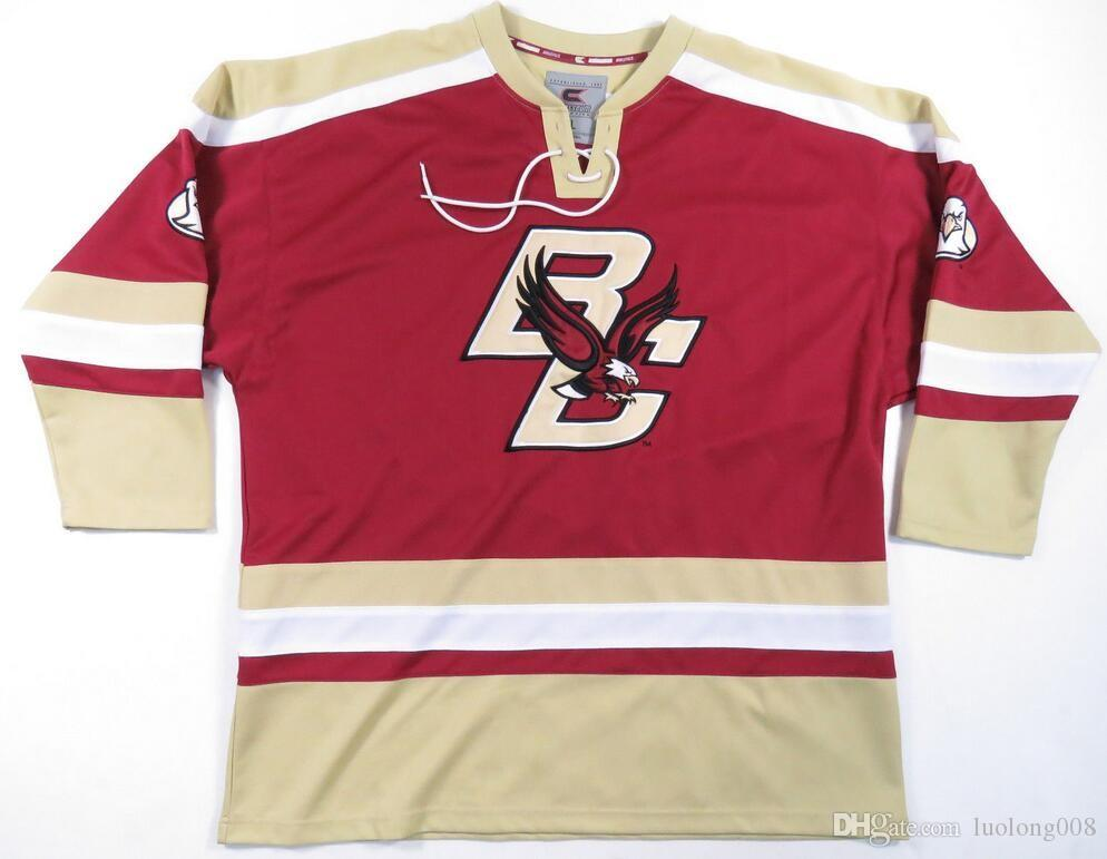 pick up 338bf 89629 Vintage BOSTON COLLEGE EAGLES COLOSSEUM HOCKEY JERSEY Embroidery Stitched  Customize any number and name Jerseys