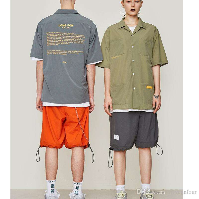 Men's Clothing Vfiveunfour Side Color Block Patchwork Casual Shorts Men 2019 Summer Hip Hop Shorts Male Harajuku Loose Shorts Jumpsuit